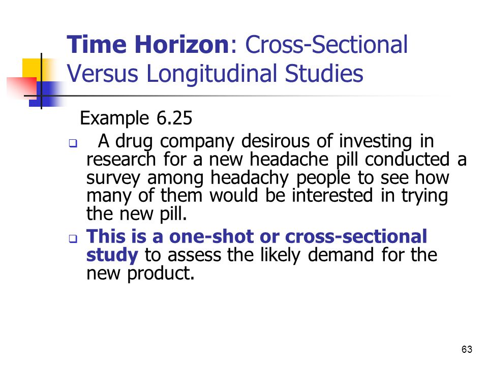 time horizon in research