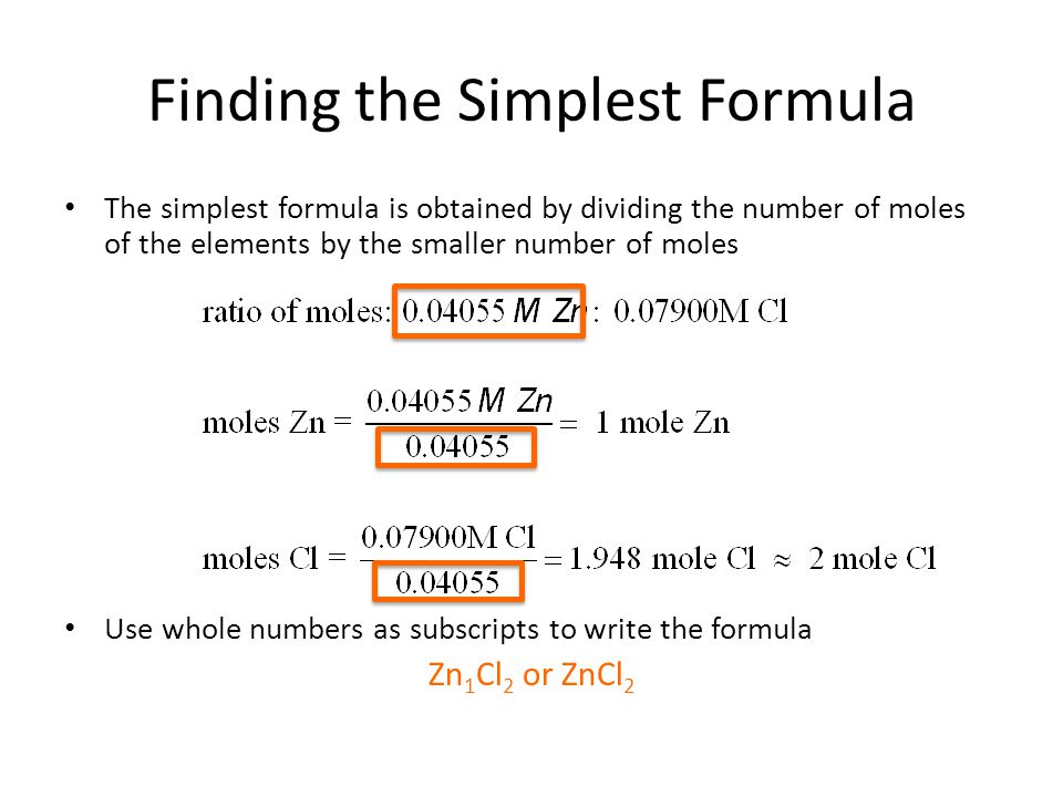 simplest formula  Moles and Chemical Formulae - ppt video online download