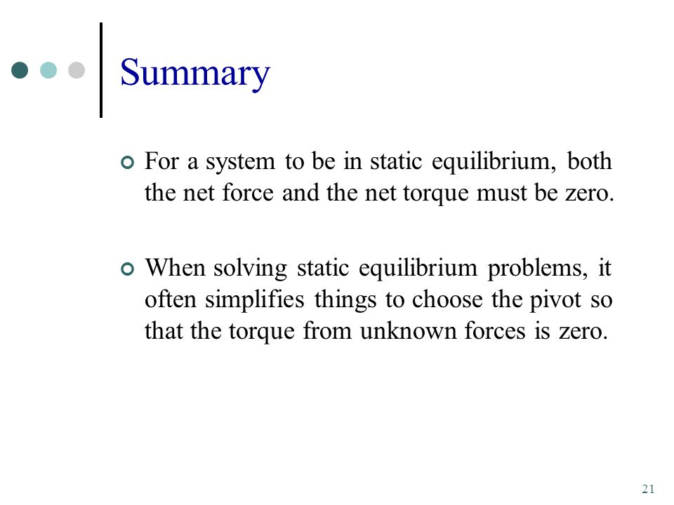 how to solve static equilibrium problems