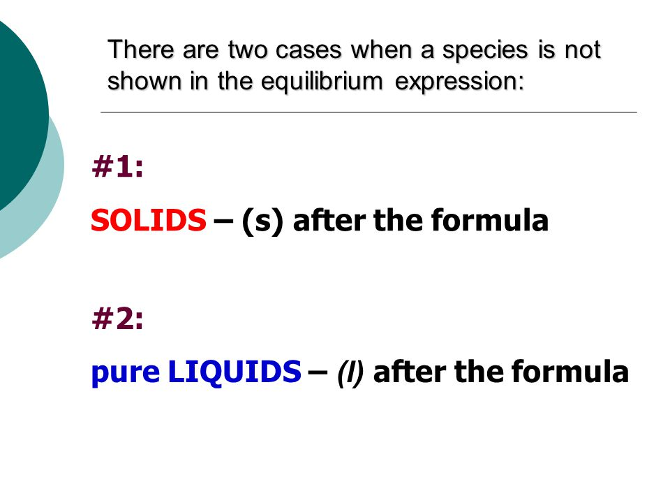 SOLIDS – (s) after the formula