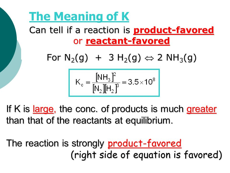 Can tell if a reaction is product-favored or reactant-favored