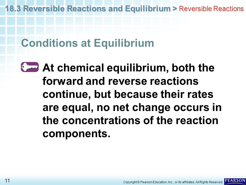 Conditions at Equilibrium