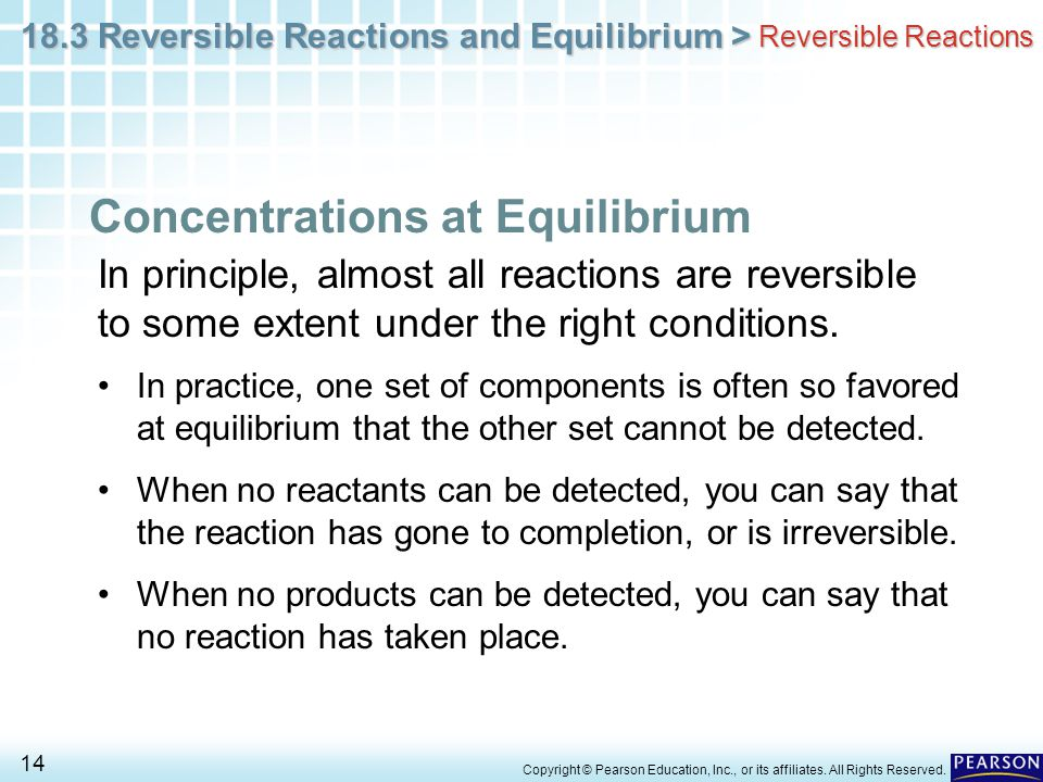 Concentrations at Equilibrium