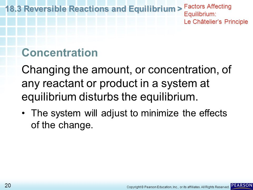 Factors Affecting Equilibrium: Le Châtelier's Principle