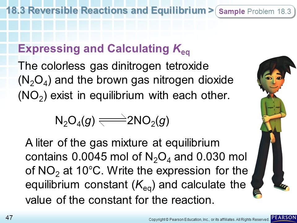 Expressing and Calculating Keq