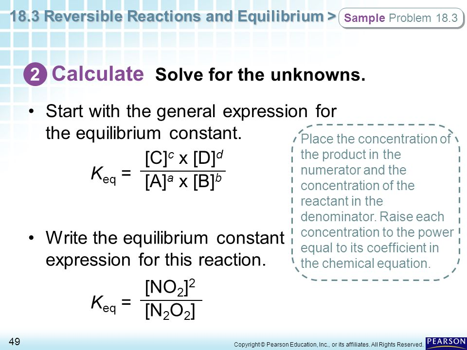 Calculate Solve for the unknowns.