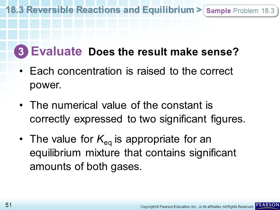 Evaluate Does the result make sense