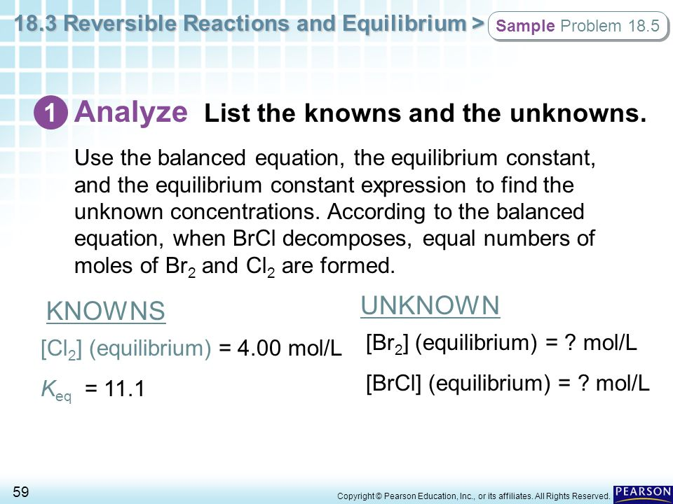 Analyze List the knowns and the unknowns.