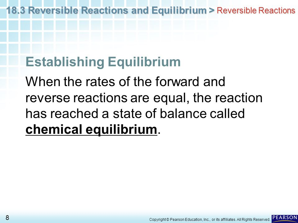 Establishing Equilibrium