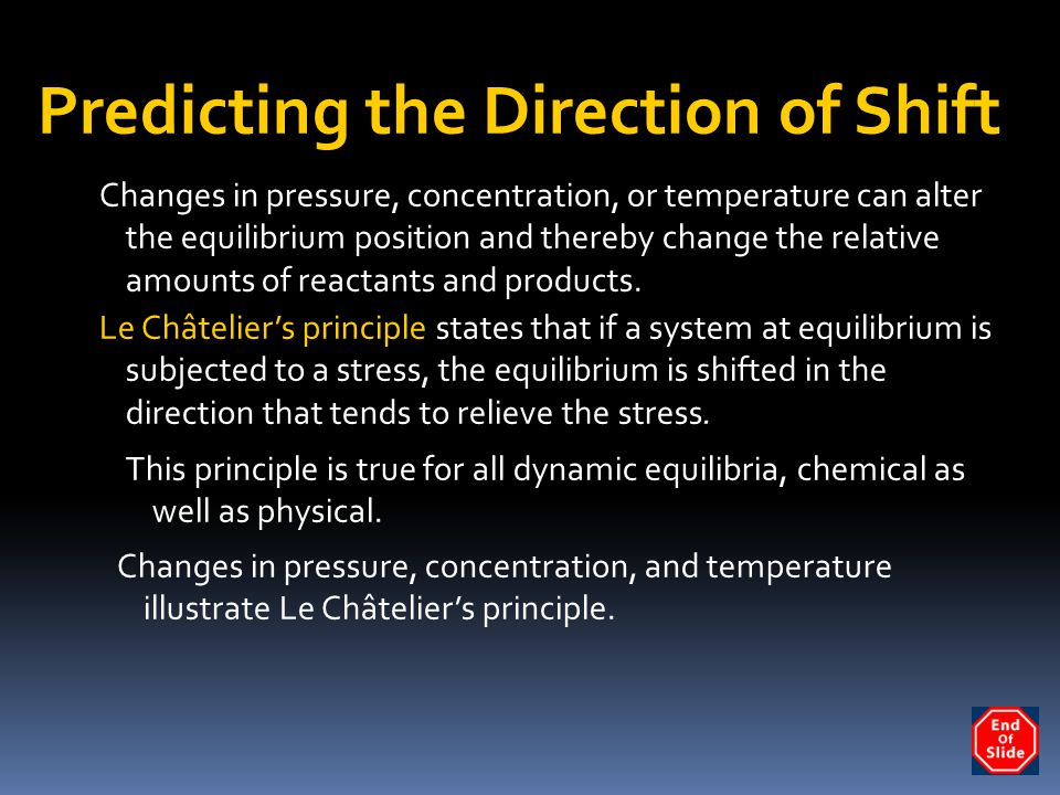 Predicting the Direction of Shift