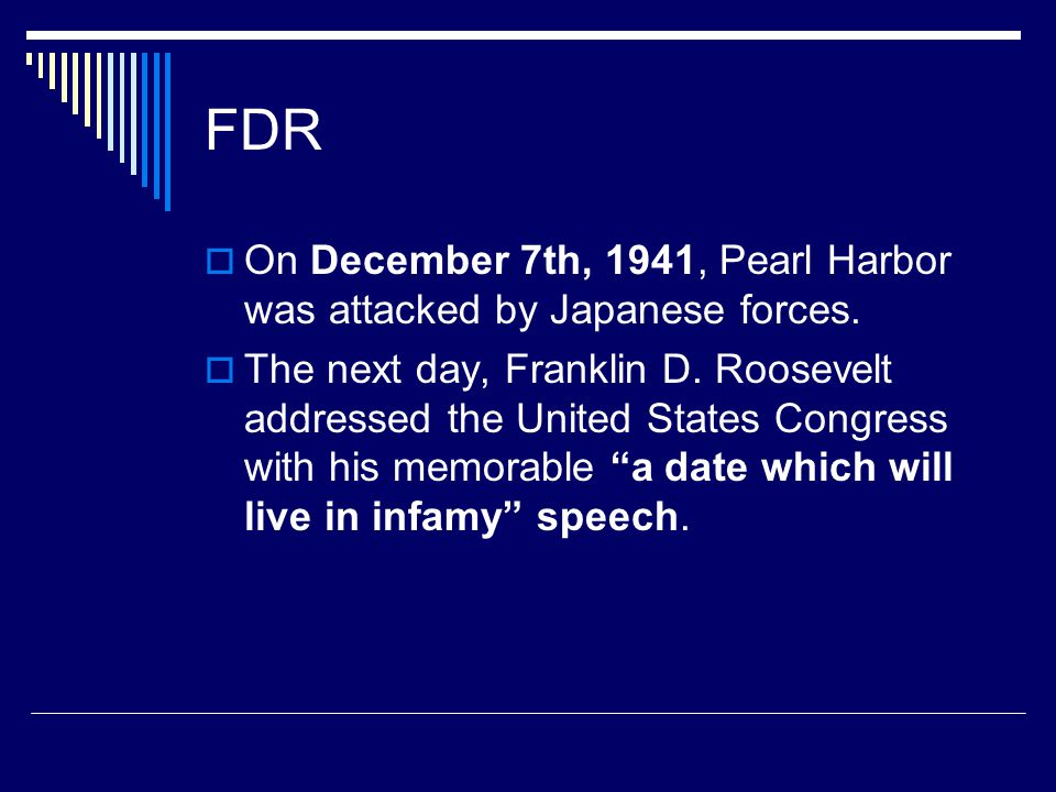 fdr december 7th speech