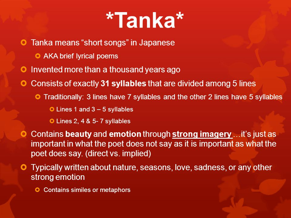 Poetry unit: japanese poetry tanka and haiku ppt video online.