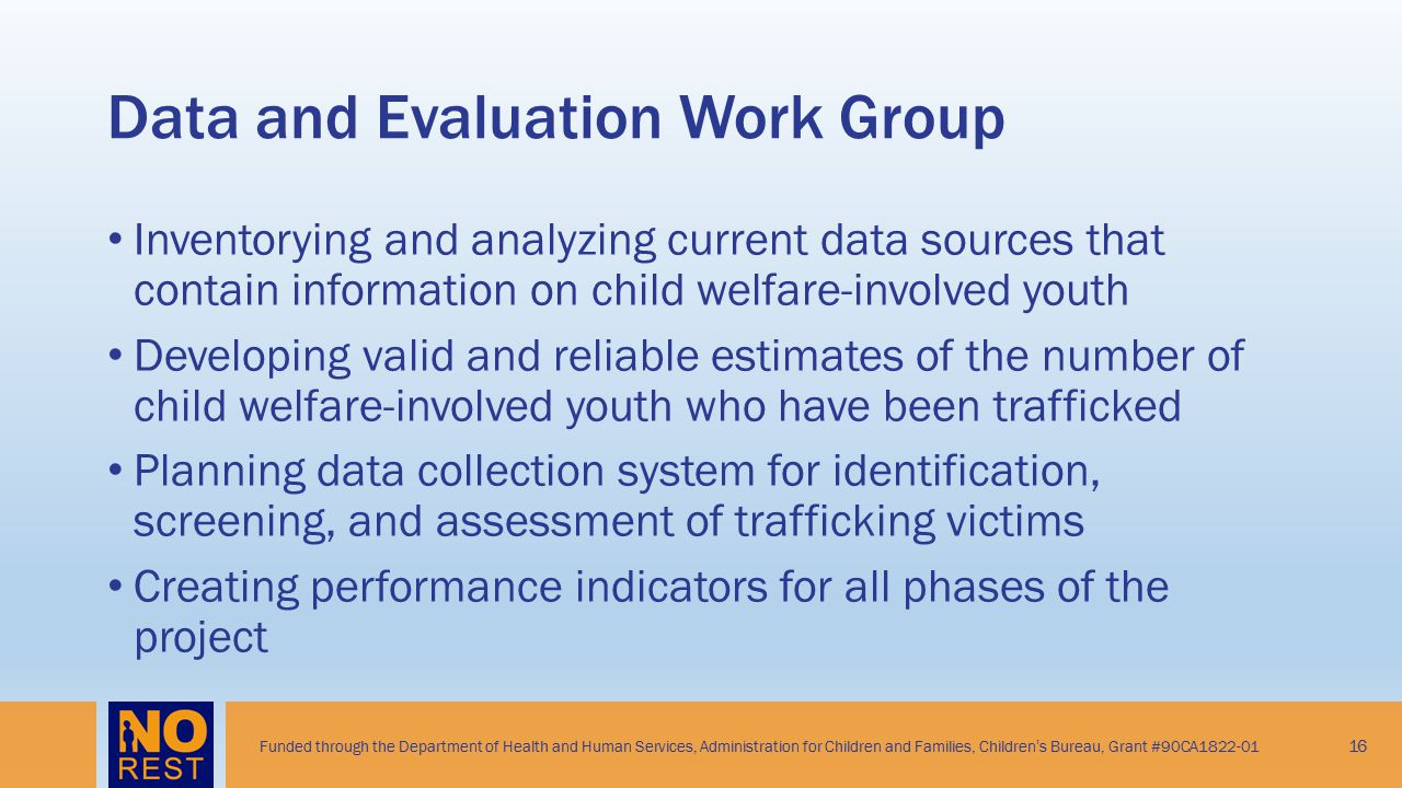 Data and Evaluation Work Group