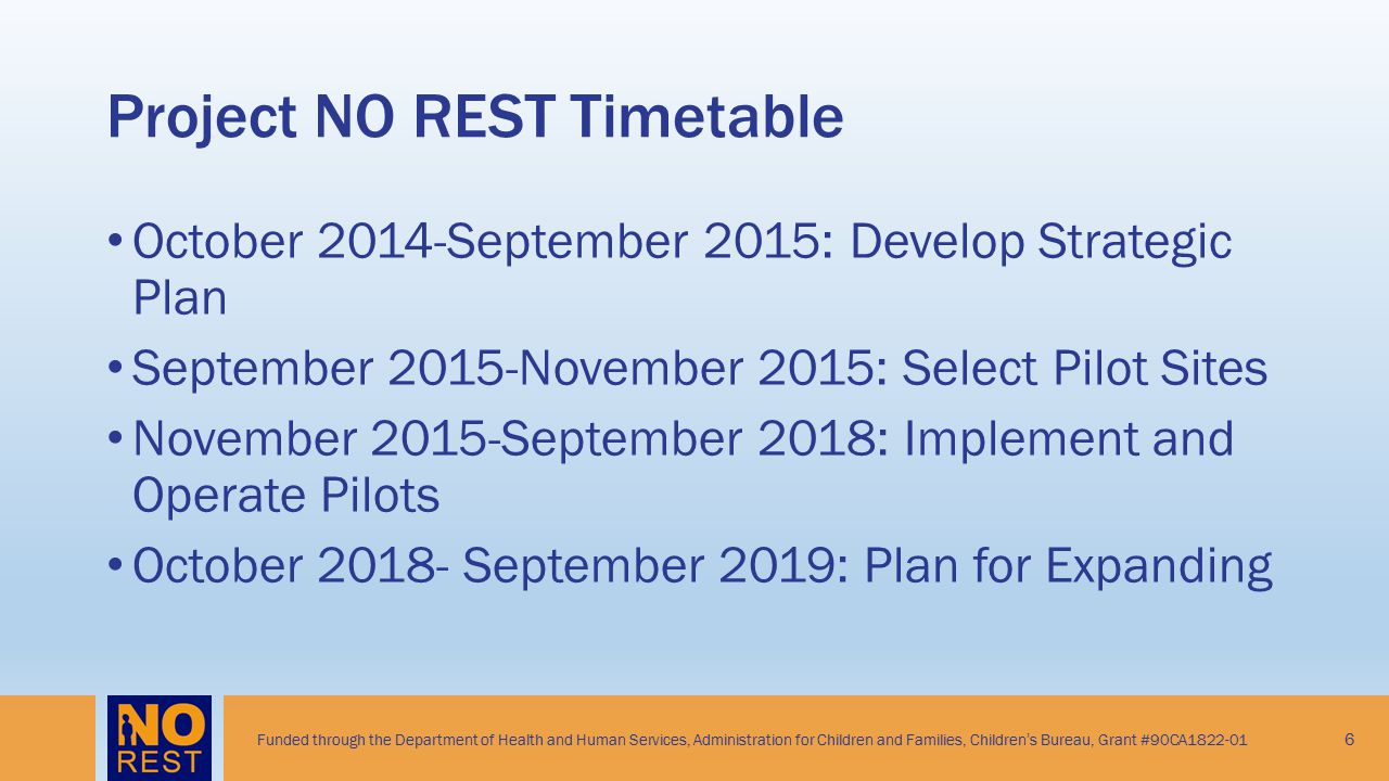 Project NO REST Timetable