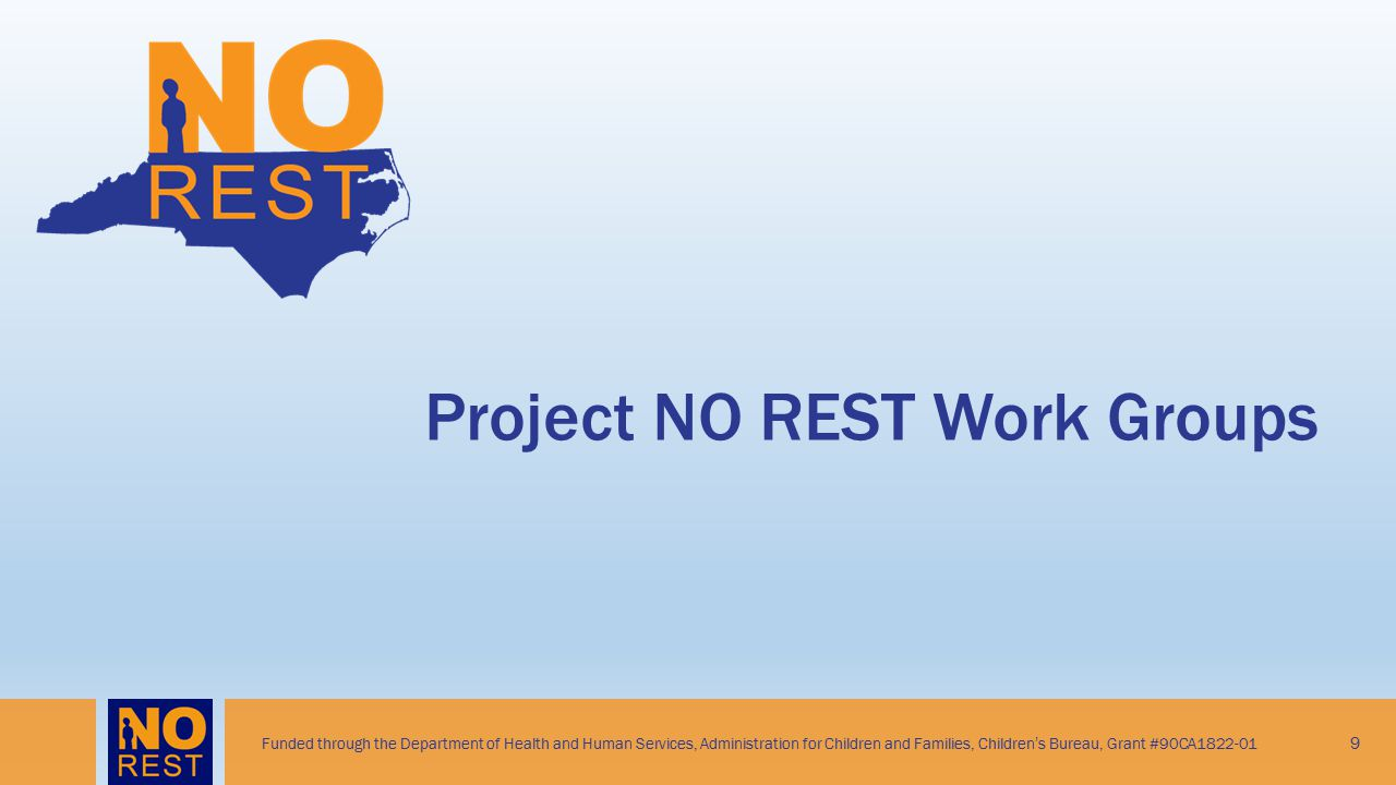 Project NO REST Work Groups