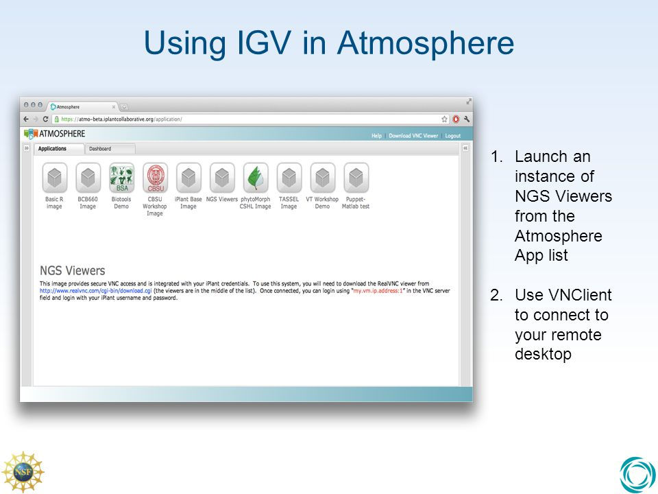 Using IGV in Atmosphere