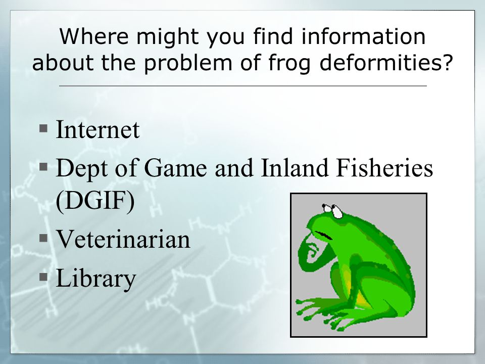 Dept of Game and Inland Fisheries (DGIF) Veterinarian Library