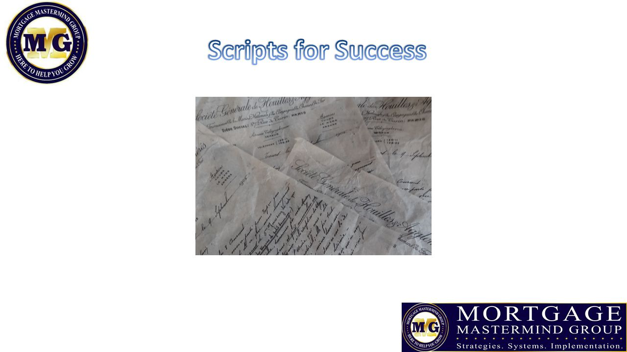 Scripts for Success