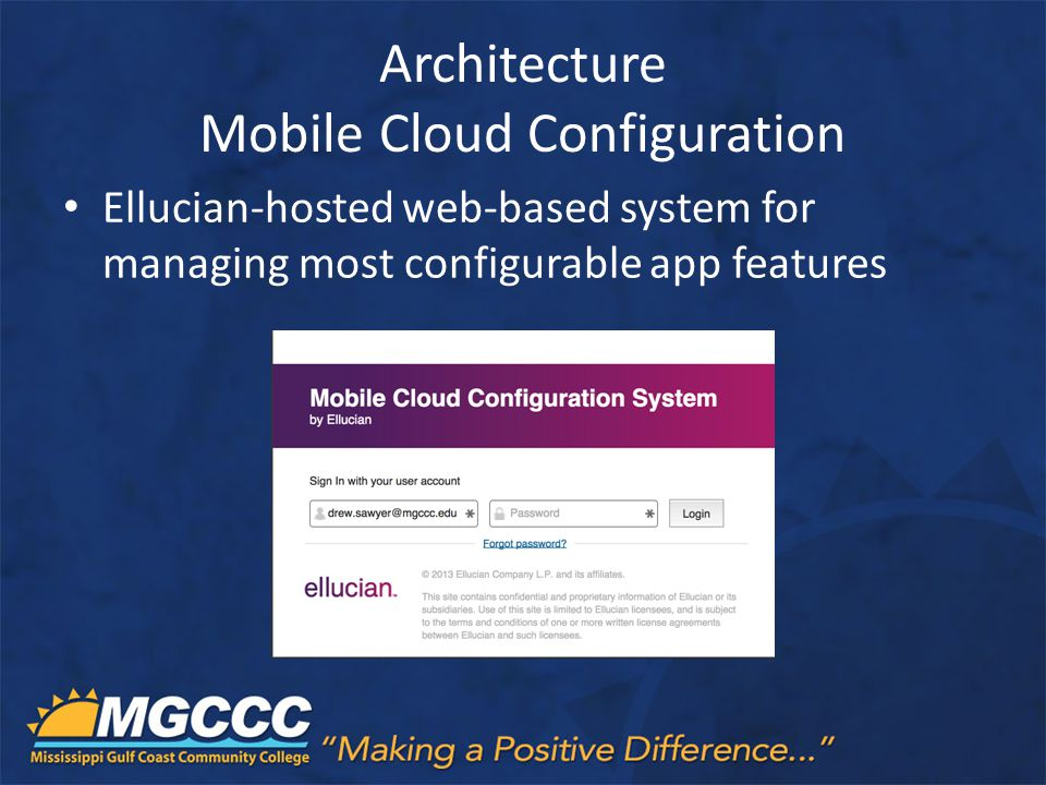 Architecture Mobile Cloud Configuration