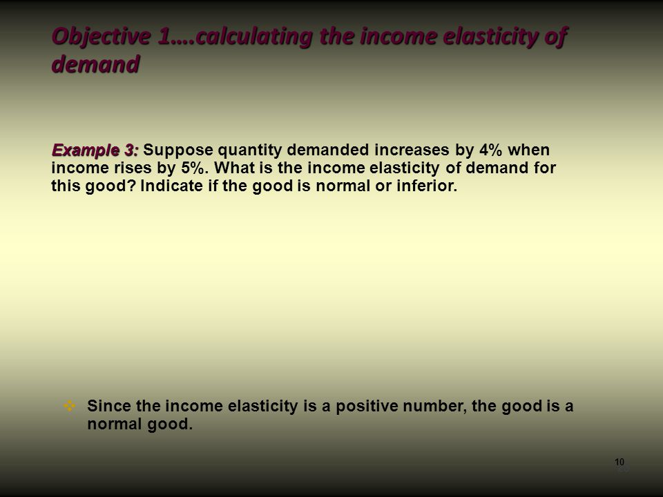 importance of income elasticity to firms essay If the answer calculated for the elasticity of income is more than 1 (1ei), for example, 254 or 578, it can be considered as a luxury good where people can afford to buy branded and better quality of goods.