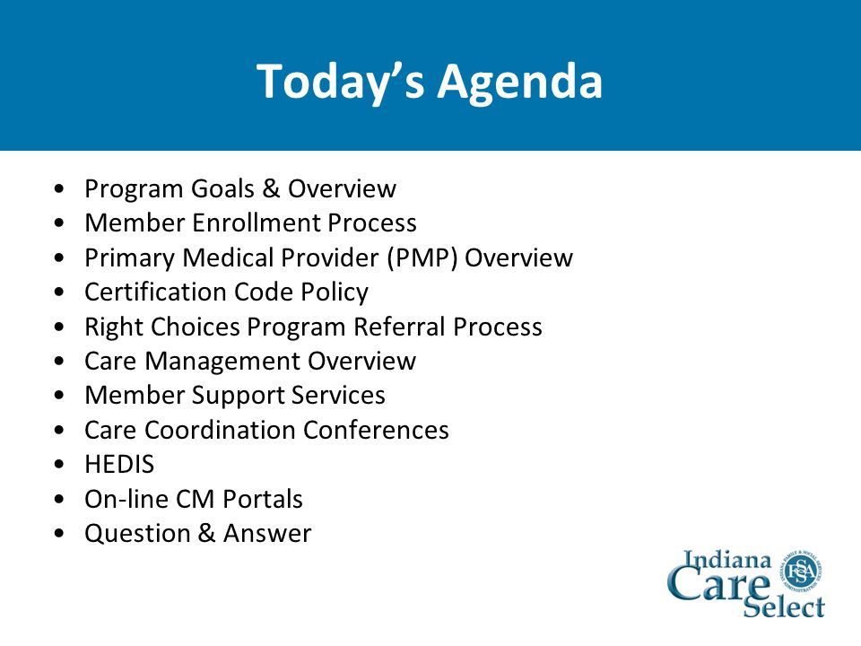 Indiana Care Select Overview - ppt download