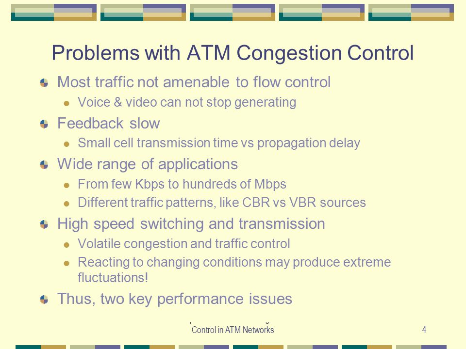 Problems with ATM Congestion Control