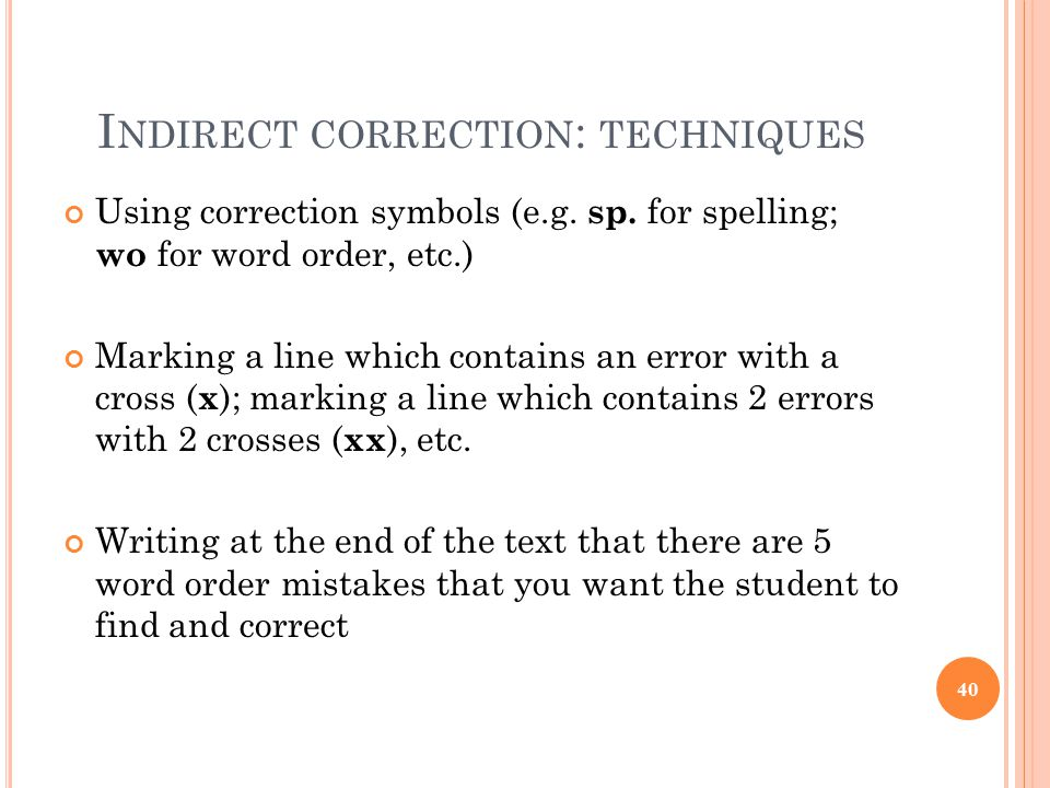 Correcting Errors In Student Writing Ppt Download