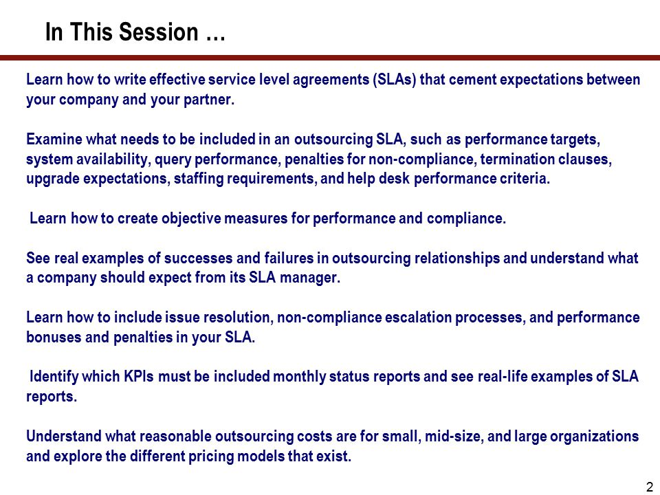 Guidelines For Writing Foolproof Service Level Agreements Slas