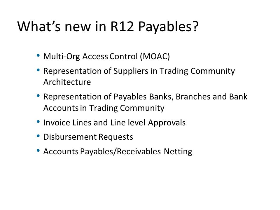 Oracle Payables R New Features Ppt Video Online Download - Oracle r12 ap invoice approval workflow