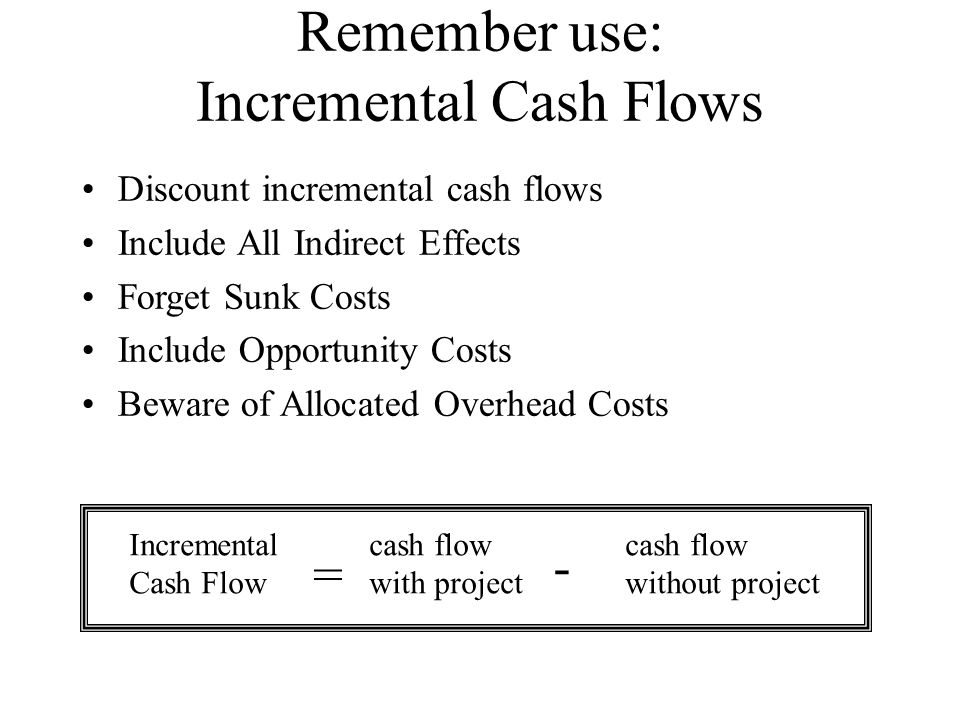 incremental cash flow Prepare a statement showing the incremental cash flows for this project over an 8-year period calculate the payback period (p/b) and the npv for the project based on your answer for question 2.