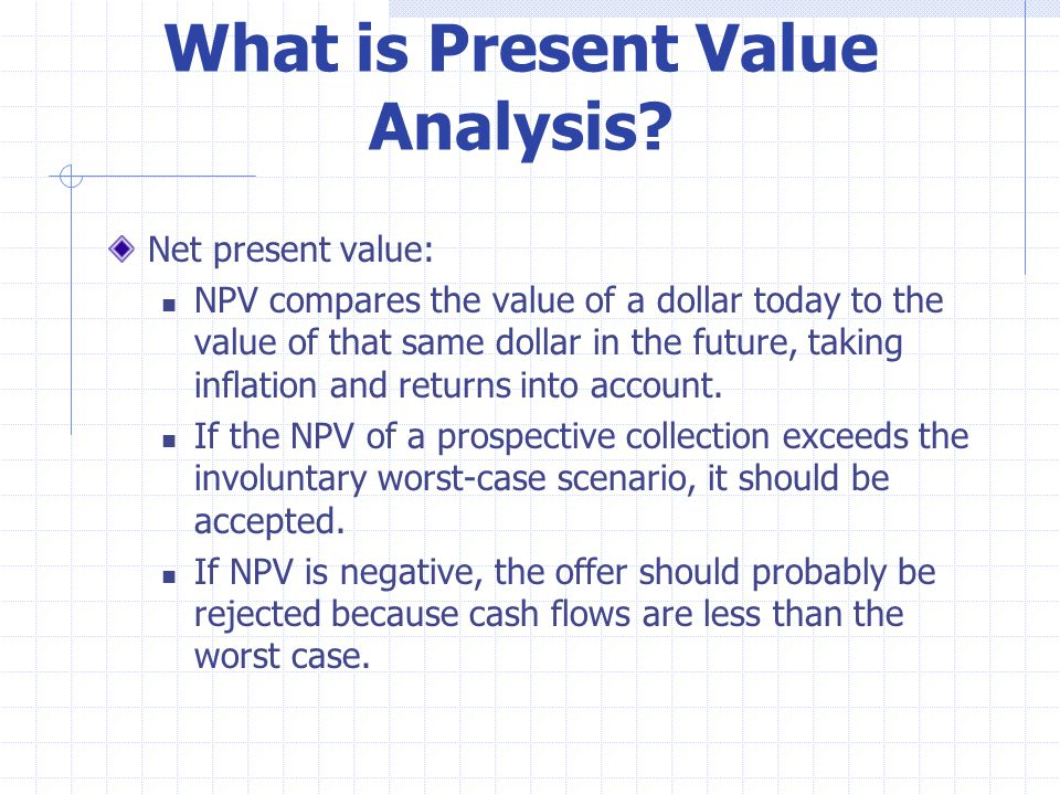 What Is Present Value Ysis