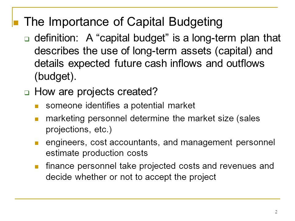 the importance of capital