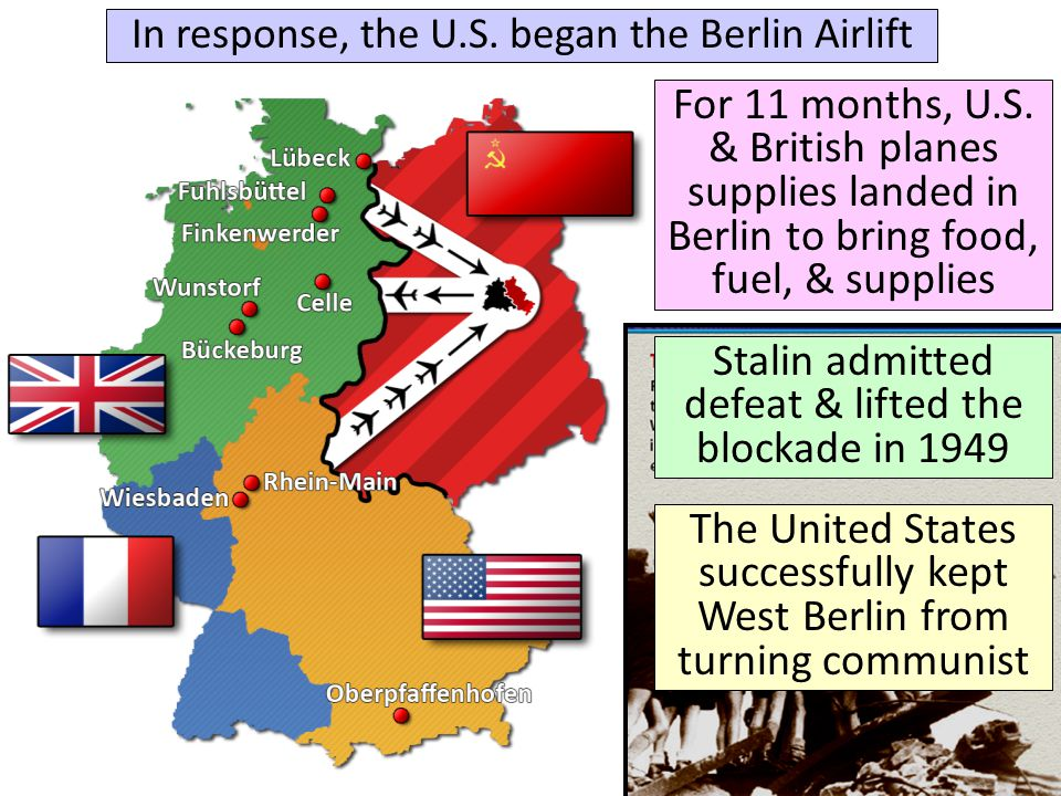 Stalin admitted defeat & lifted the blockade in 1949