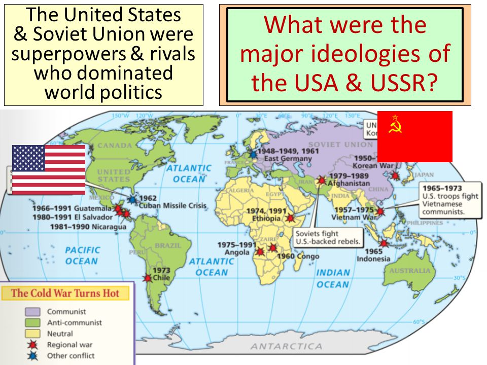 What were the major ideologies of the USA & USSR
