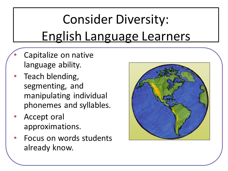 Consider Diversity: English Language Learners