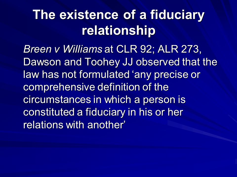 Fiduciary Relationships Ppt Download