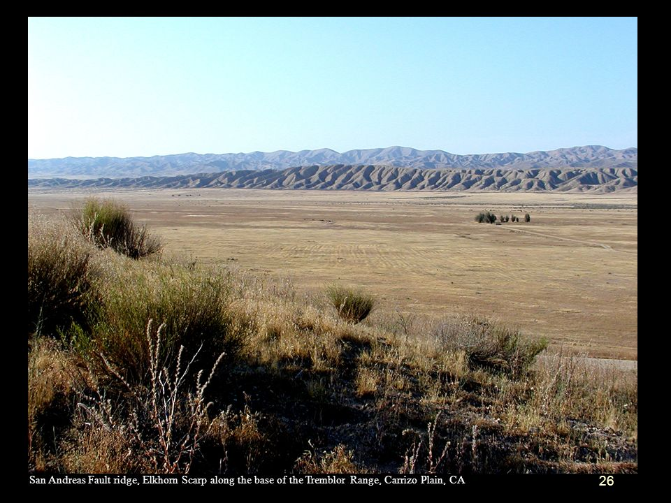 San Andreas Fault ridge, Elkhorn Scarp along the base of the Tremblor Range, Carrizo Plain, CA