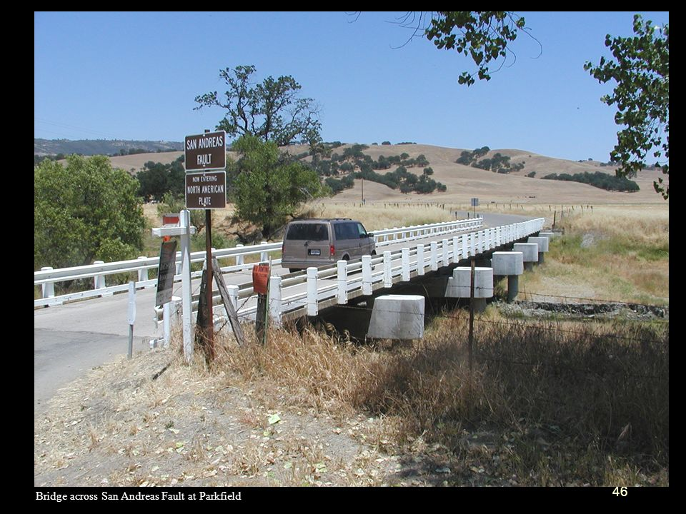 Bridge across San Andreas Fault at Parkfield