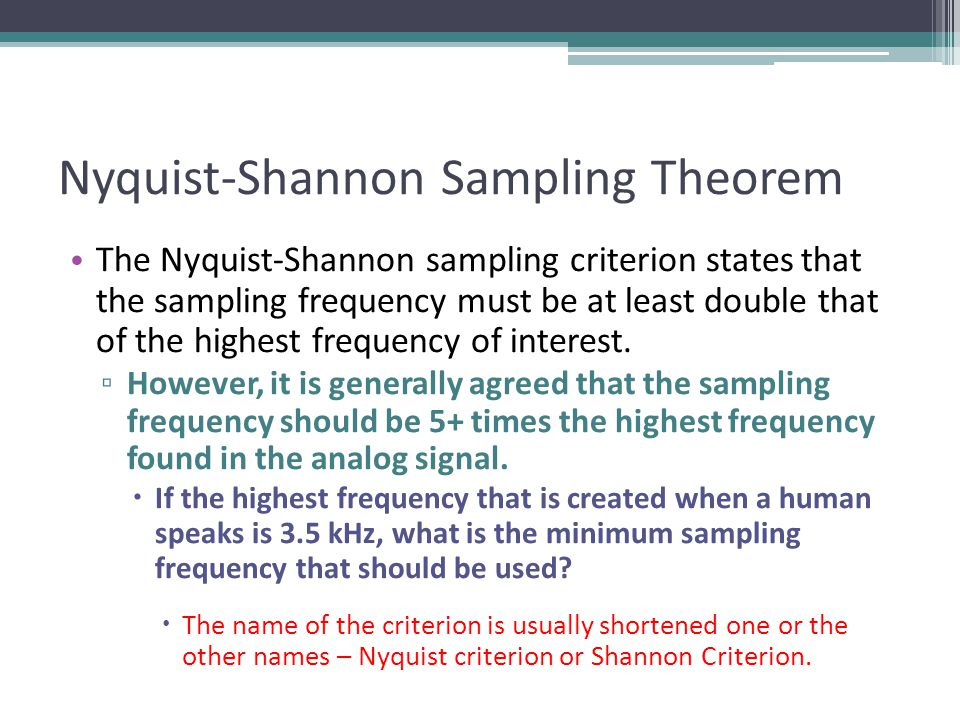 Nyquist-Shannon Sampling Theorem