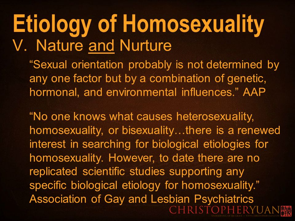 Scientific studies on cause of homosexuality