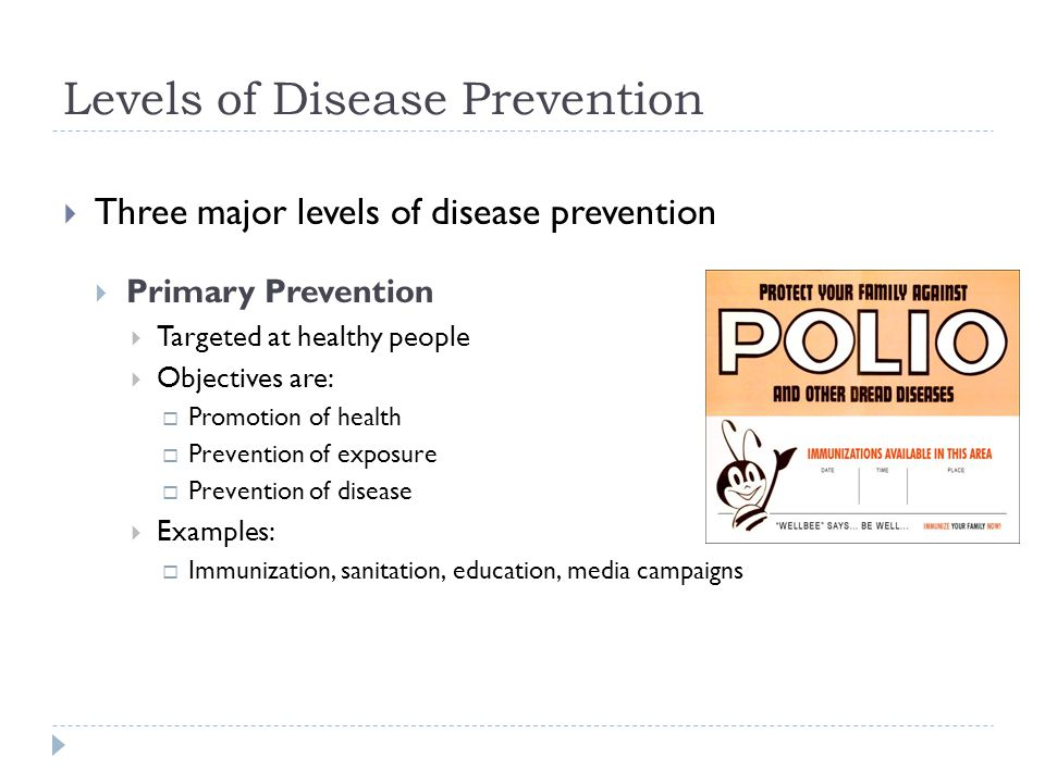 compare the three levels of health promotion prevention Levels of prevention three broad categories of determinants of human behavior will be discussed in this study session and you will have an opportunity to learn about the influence of these factors in determining human behavior.
