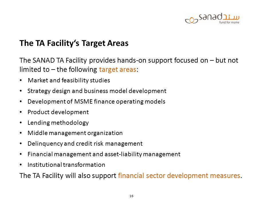 The TA Facility's Target Areas