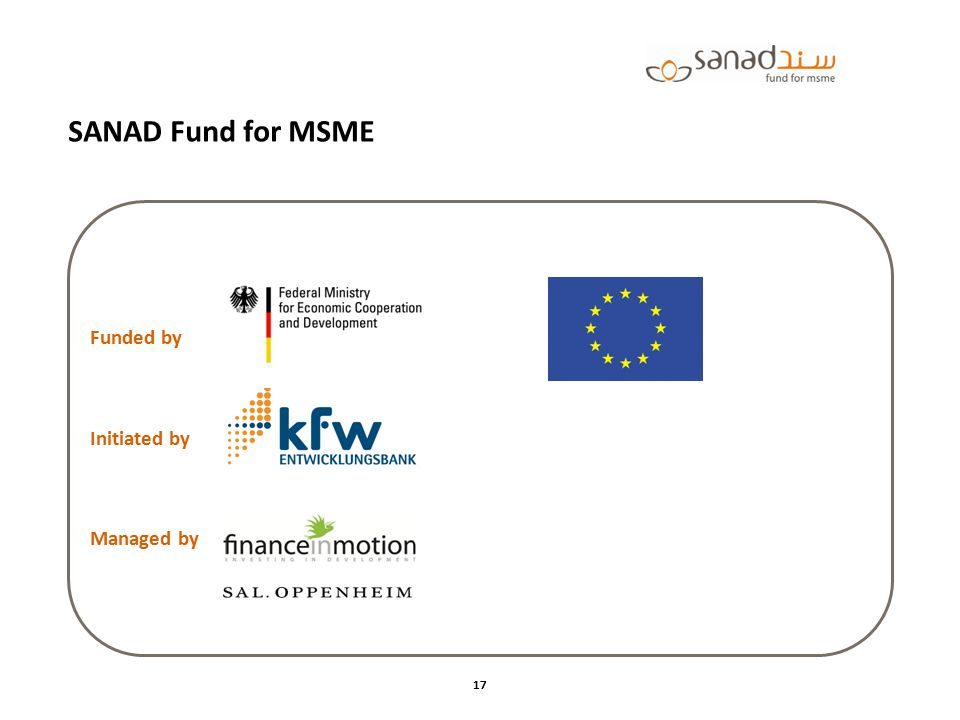 SANAD Fund for MSME Funded by Initiated by Managed by Funded by