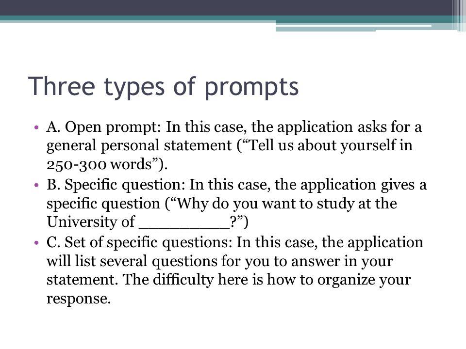 three types of prompts
