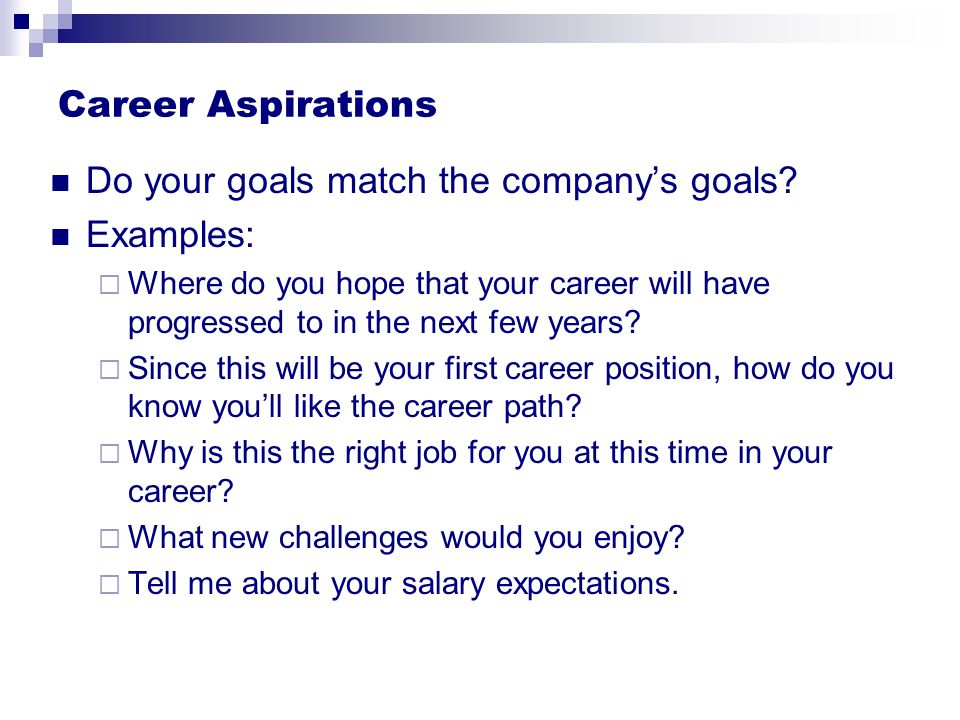 What Is Your Career Aspiration From Interview To Offer Ppt Download