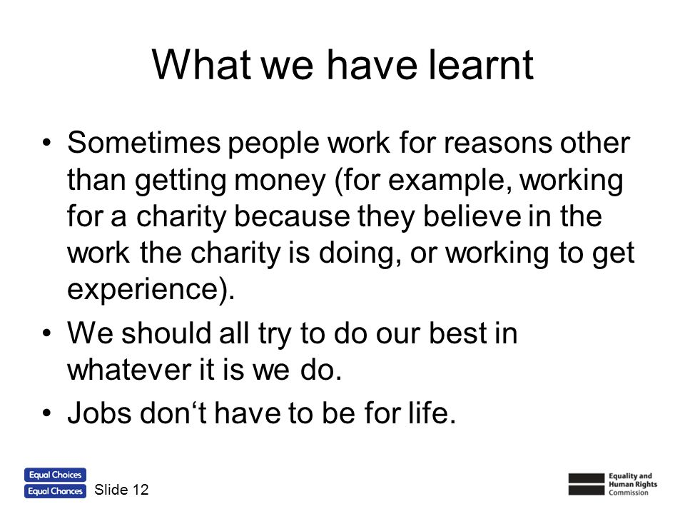 What we have learnt