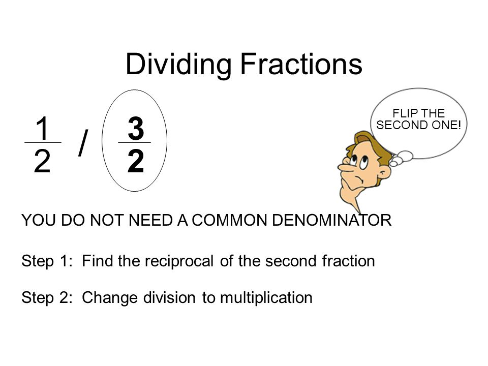 / Dividing Fractions YOU DO NOT NEED A COMMON DENOMINATOR