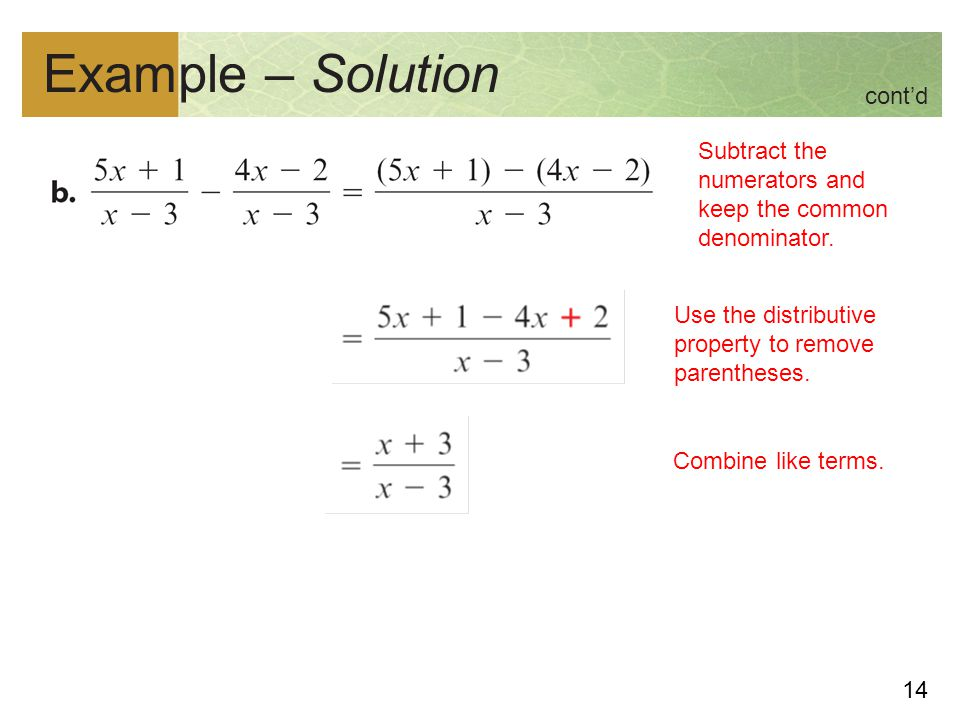 Example – Solution cont'd