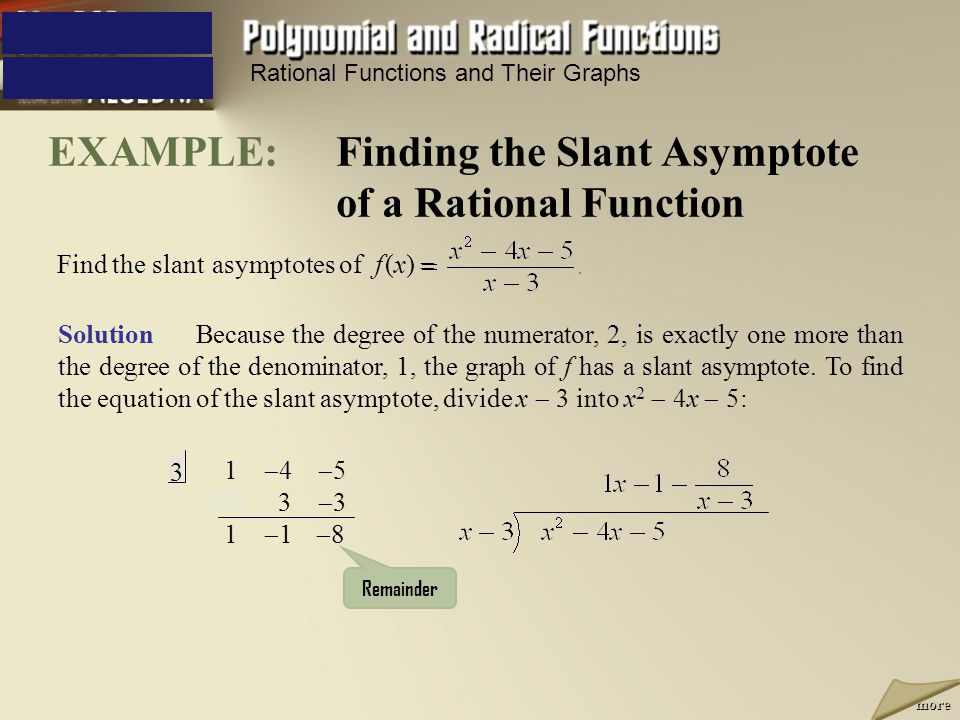 Holes Slant Asymptotes Ppt Video Online Download