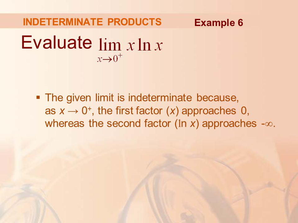 INDETERMINATE PRODUCTS